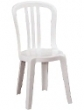 White garden bistro chairs hire rent