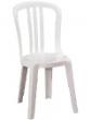 White garden bistro chairs hire rent