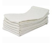 White linen napkin hire item